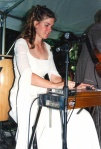 Nancy playing steel at Ben and Nancy's wedding 8/12/2000